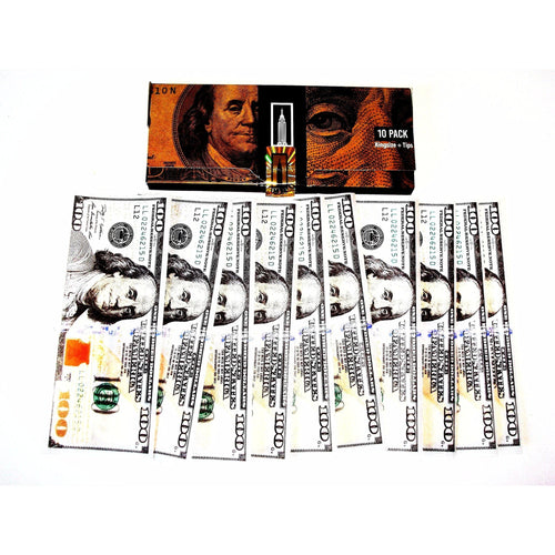 Weavs Supplies Empire $100 Bill Rolling Papers - 1 Wallet