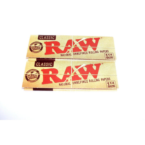 Raw Classic Rolling Papers 1 1/4 Size - 2 pack