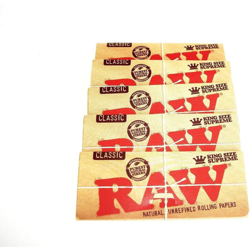 Raw Classic Rolling Papers King Size - 5 pack