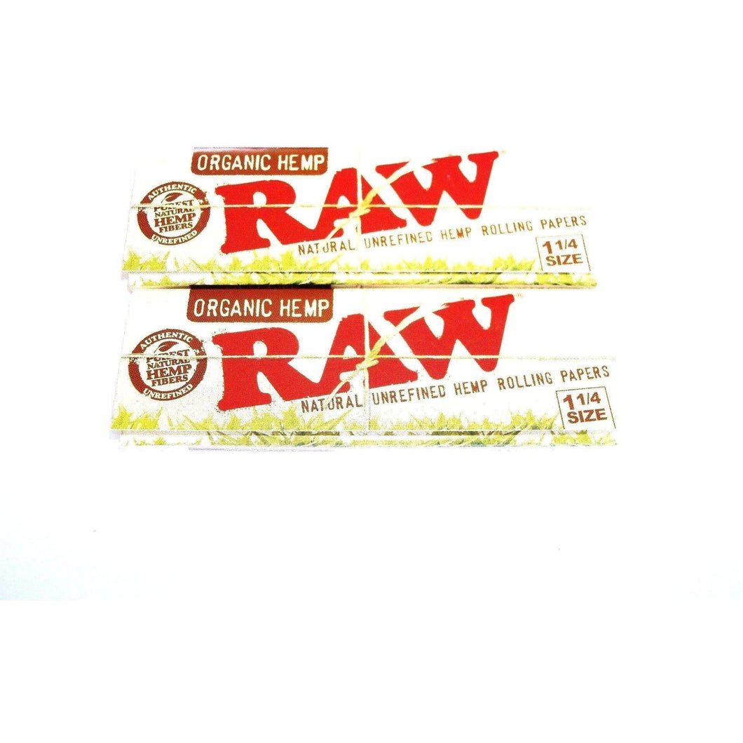 Raw Organic Hemp Rolling Papers 1 1/4 Size - 2 pack