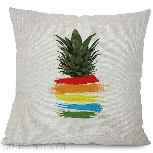 Miracille Colorful Tropical Pineapple Cushion Cover Home Sofa Decorative Throw Pillowcase Bedroom Waist Back Cushion Case Decor-50-TO-80.com-50-TO-80