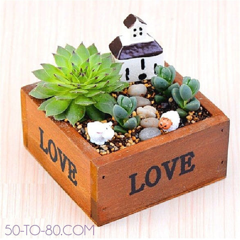 My Mini Garden Plot (1PC) - Small Wooden Box Succulent and Plant Holder-Fun Planters-50-TO-80-50-TO-80