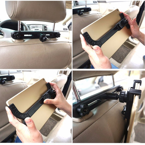 Universal Tablet Headrest Mounting Device - for a Mini Backseat Car Theater!-Phone Accessories-50-TO-80-50-TO-80