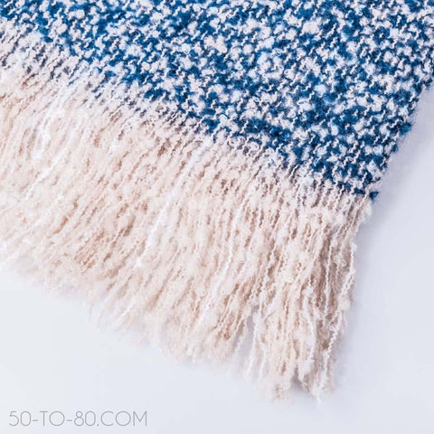 Cashmere & Cotton Blend Ladies Blanket Shawl/Winter Scarf-Scarf-50-TO-80-50-TO-80