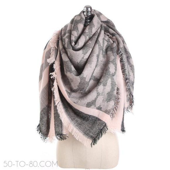 Women's Winter Scarf- Leopard Camouflage Pattern-Scarf-50-TO-80.com-50-TO-80