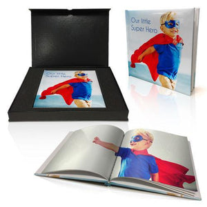 "8x8"" Personalised Padded Cover Book in Presentation Box"