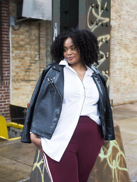 Jessica Joiner of @jesspeachie wearing See Rose Go plus size innovative essentials