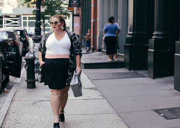 See Rose Go Plus Size Street Style as seen on Meaghan O'Connor and Photograph by Lydia Hudgens