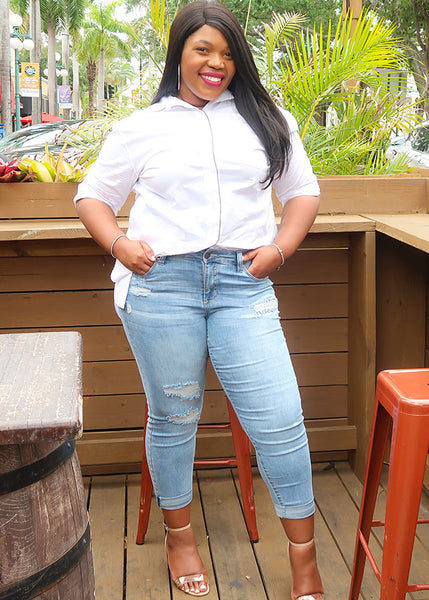plus size brand See Rose Go tee and how to French Tuck #FRENCHTUCK