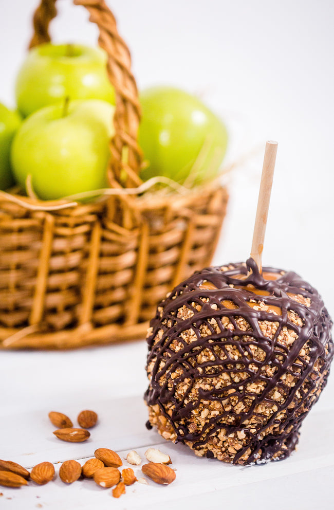 Dark Chocolate Almond Caramel Apple