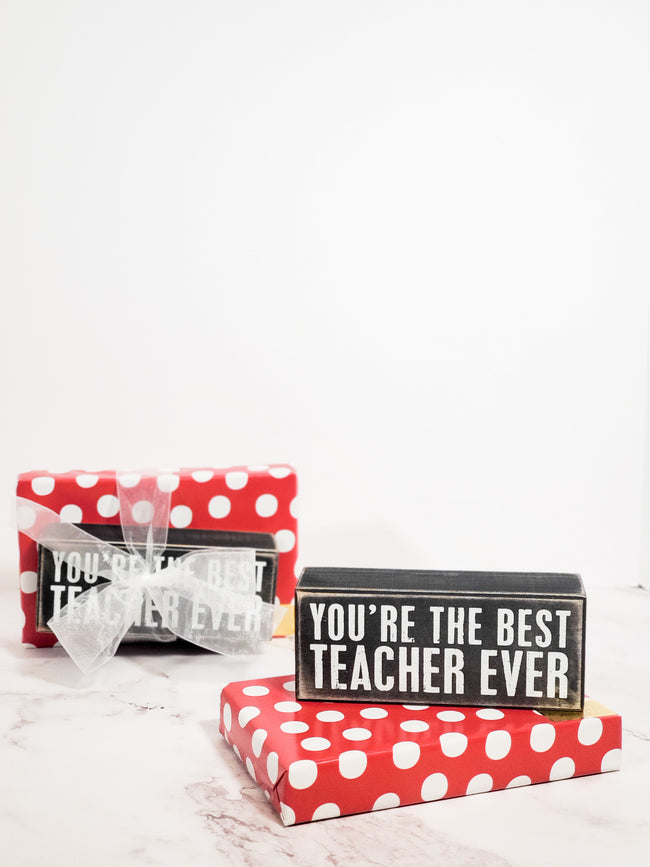You're the Best Teacher Gift Box