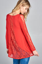 Lace Jersey Tunic Top