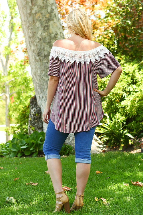 OTS  Striped Tunic Top