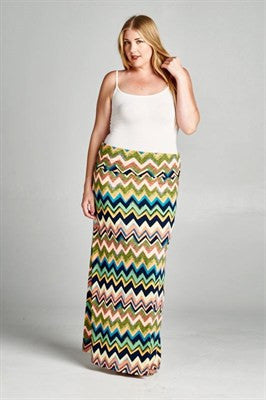 Chevron Maxi Skirt - Ruthie's Rack