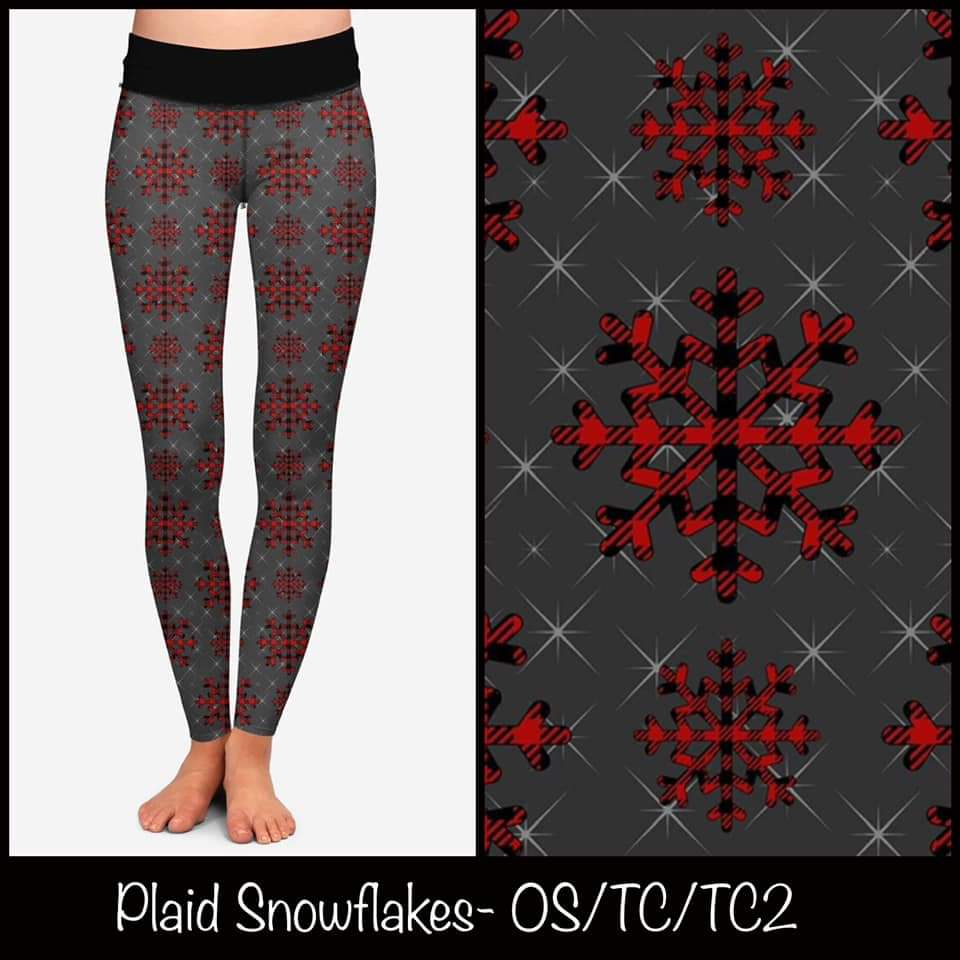Plaid Snowflakes