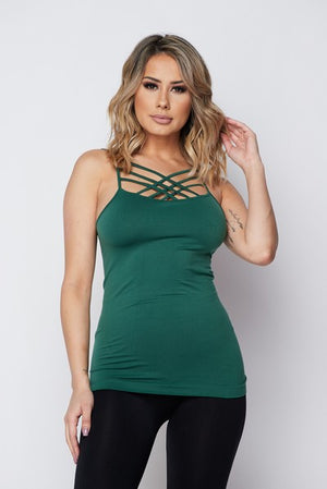 Seamless Triple Criss-Cross Front Cami