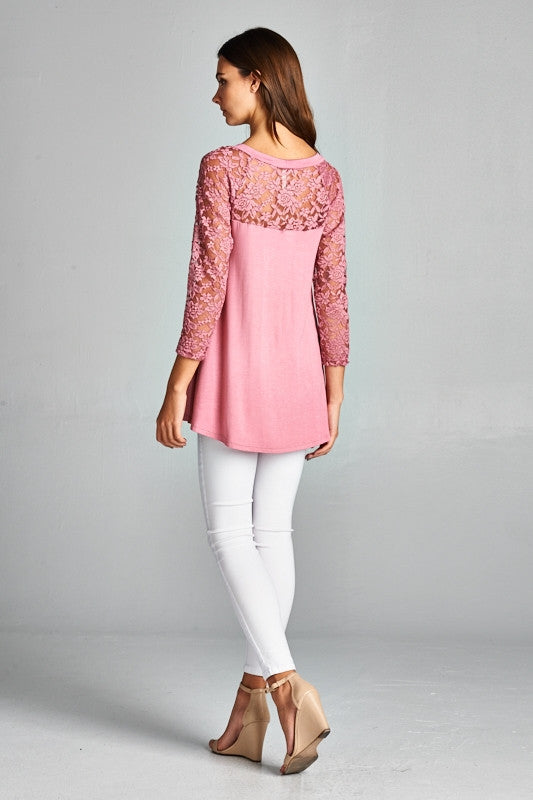 Lace Sleeve Top - Ruthie's Rack