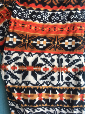 Orange Fair Isle Leggings - Ruthie's Rack