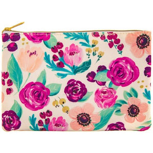White Floral Accessory Bag