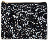 White Polka Dot Fabric Pouch