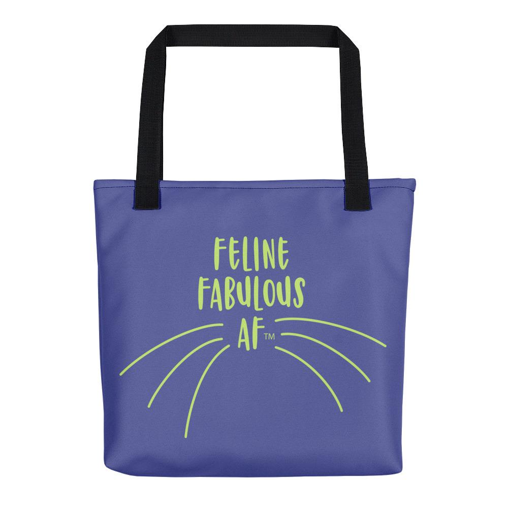 e9ecbf10e Wordy Cat 'Feline Fab' Blue Tote bag – Casa Catnip