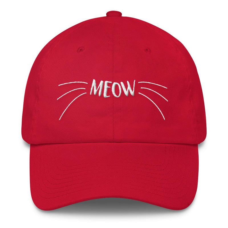 97e40f96cf0 Wordy Cat  Meow  Unstructured Cotton Cap