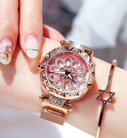 Women Rotating Floral Watch