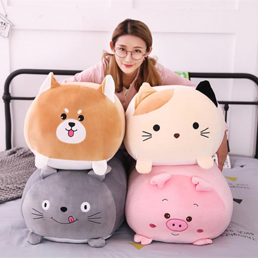 CUTE SQUISHY ANIMAL STUFFED PILLOW