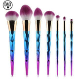Unicorn Make up Brushes - 7pcs - DIGFORDEALS