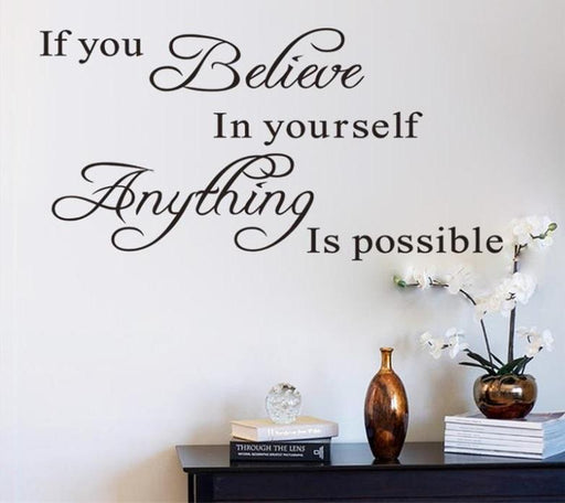 Believe In Yourself Wall Art - DIGFORDEALS