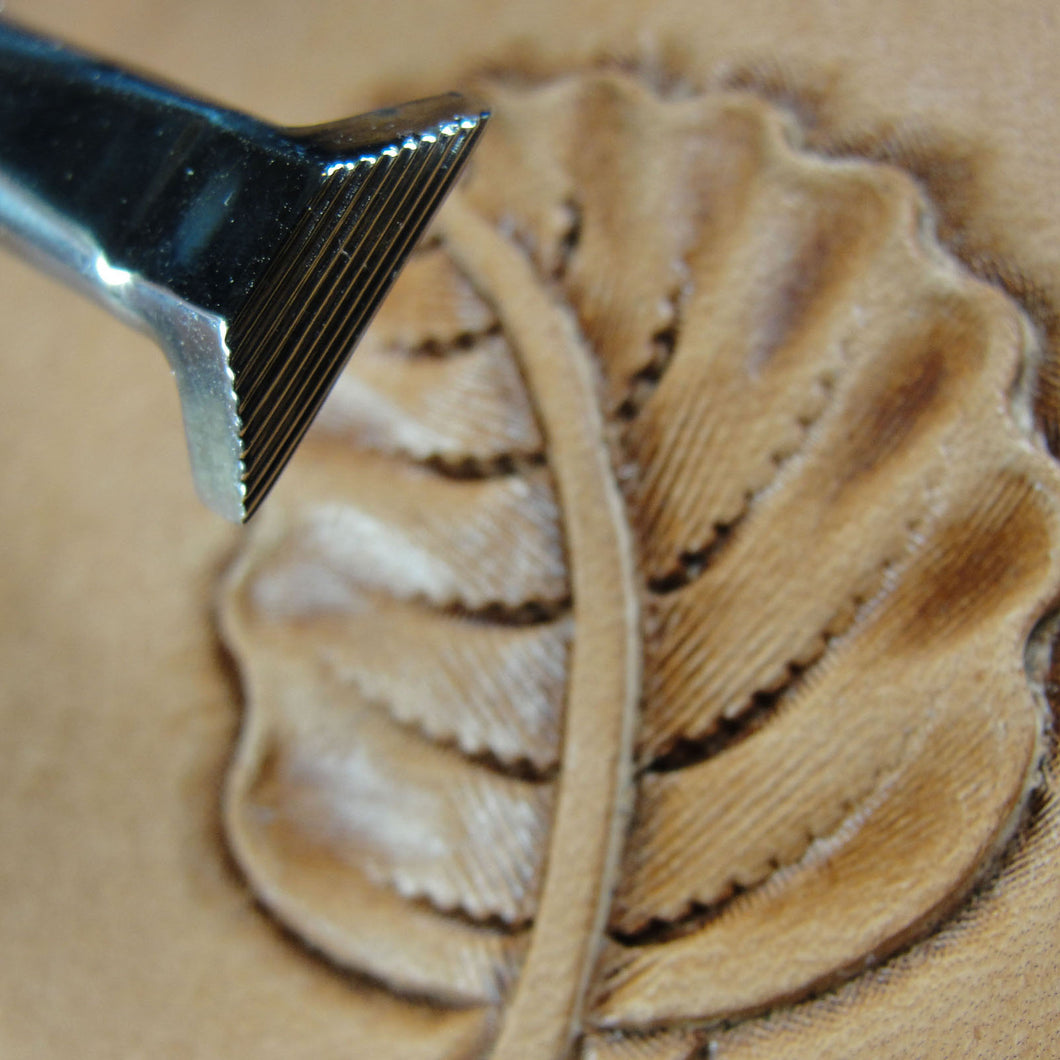 Stainless Steel Barry King Leather Stamping Tool #2 Smooth Turnback Stamp