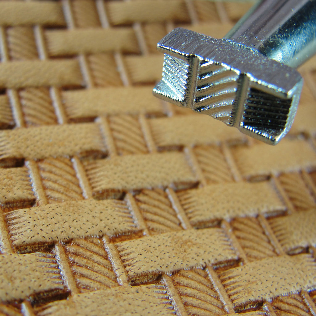 X500 2 Rope Basket Weave Leather Stamp Japan Pro