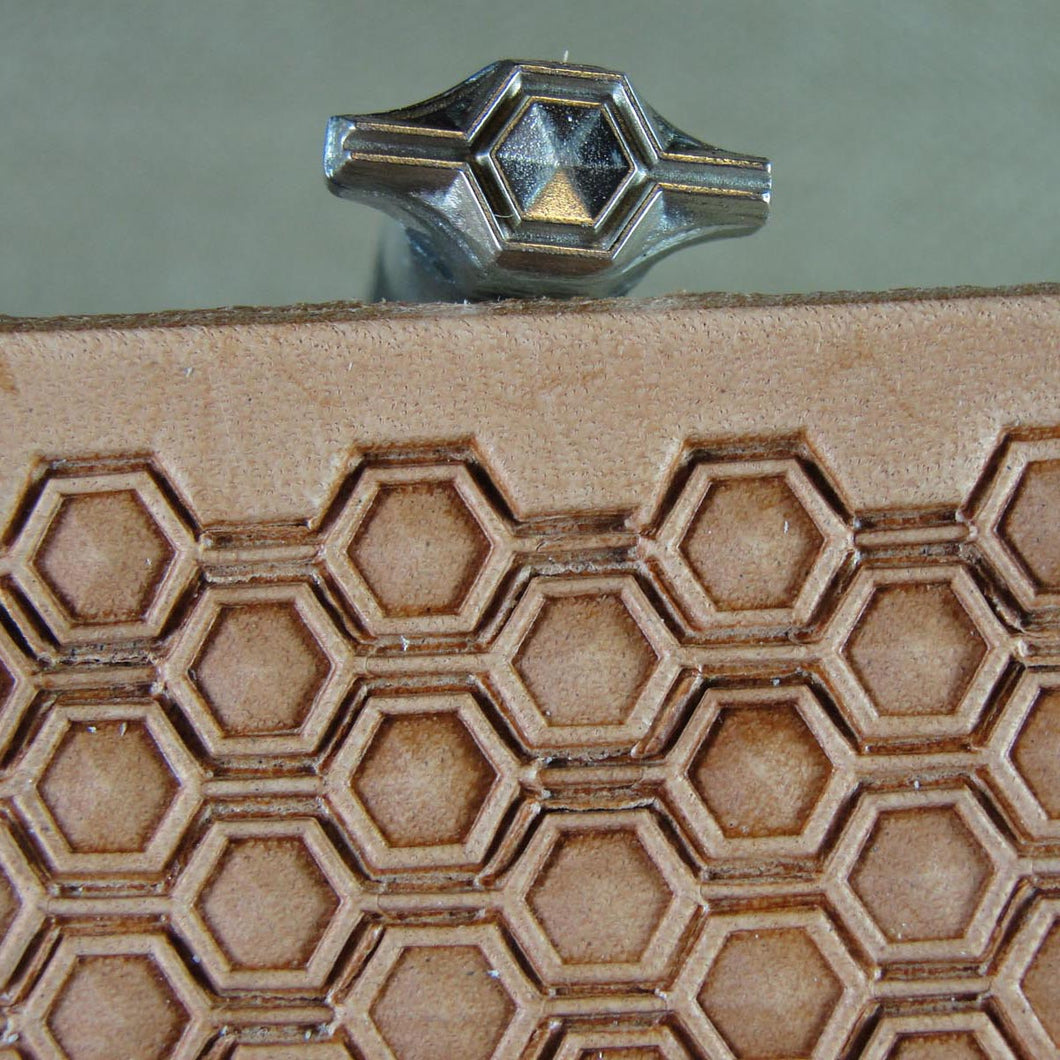 Hex Geometric Border Leather Stamp Linnell Pro Leather