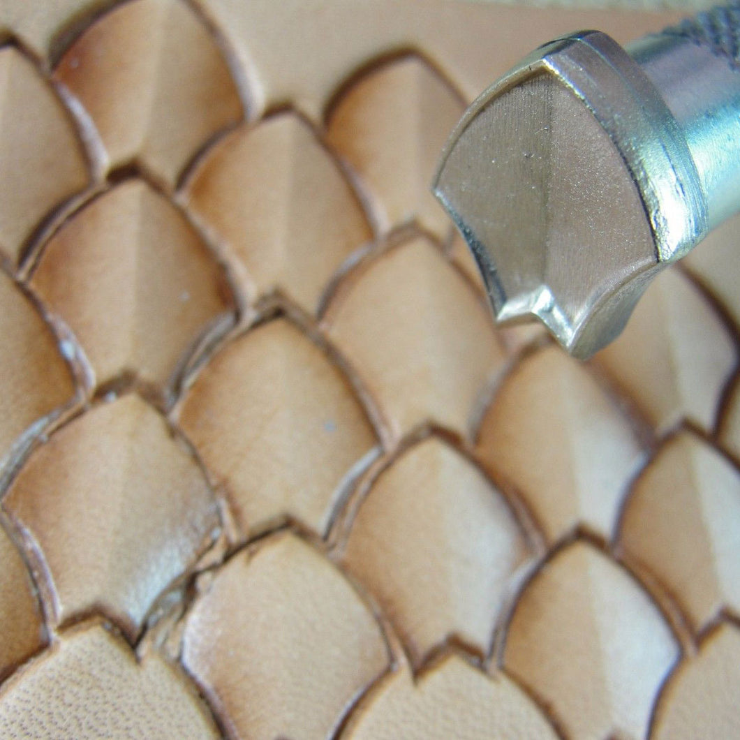 Shaded Dragon Scale Geometric Stamp Leather Stamping Tool James Linnell