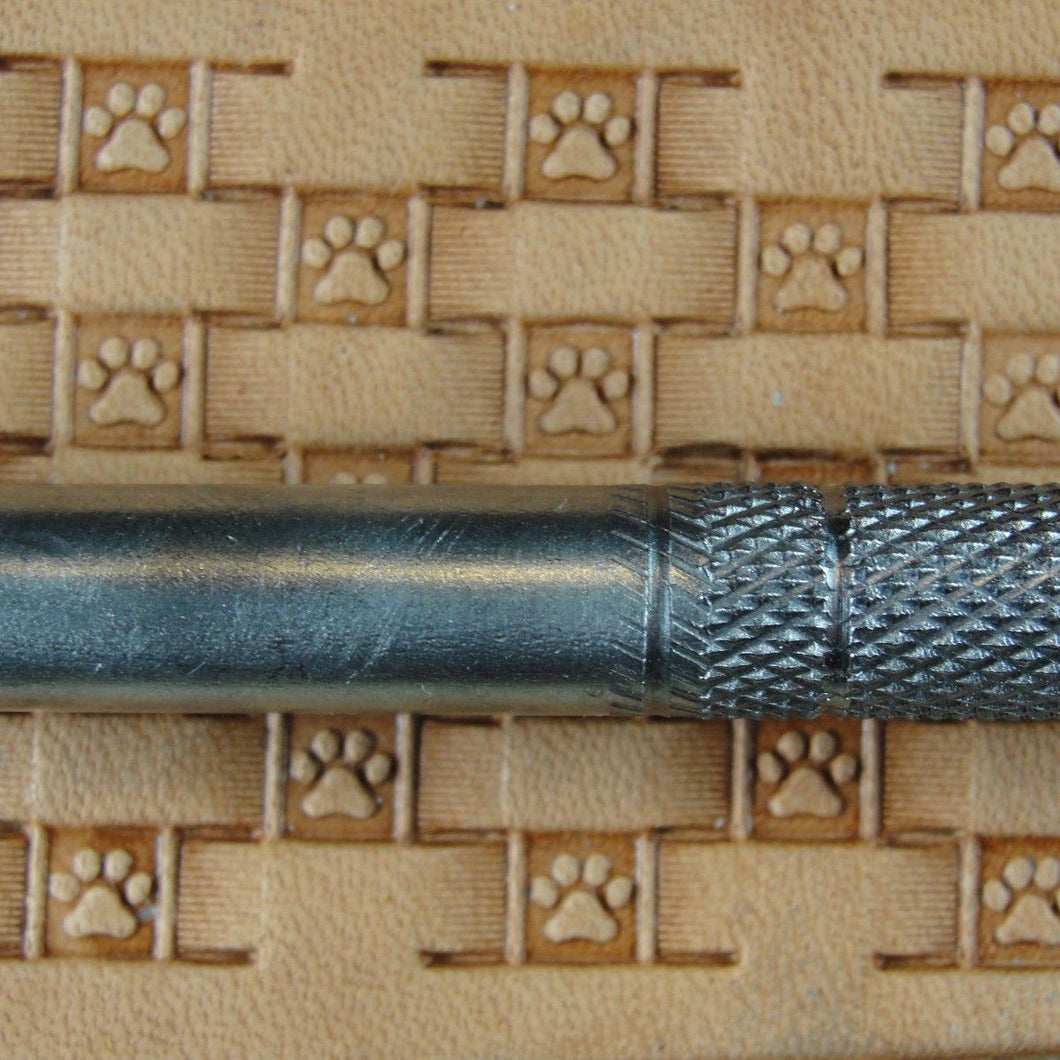 Paw Print Basket Weave Leather Stamp Linnell Pro Leather Carvers