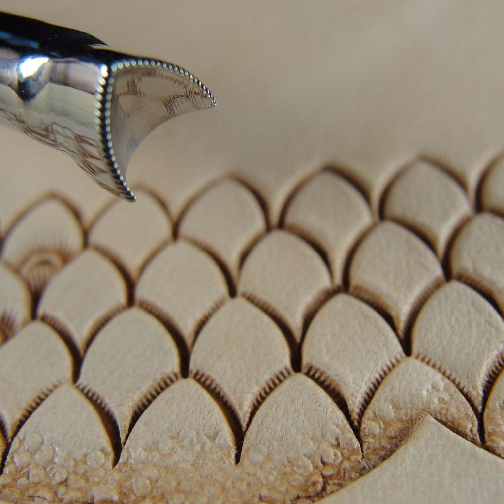Pointed Scale Leather Stamp Barry King Tools Pro
