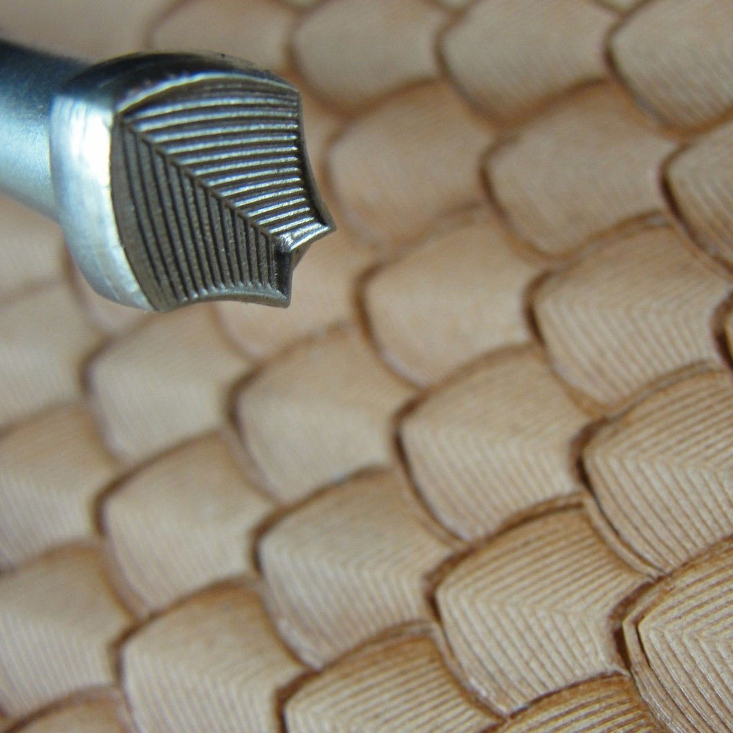 Lined Dragon Scale Geometric Leather Stamp Pro Leather Carvers