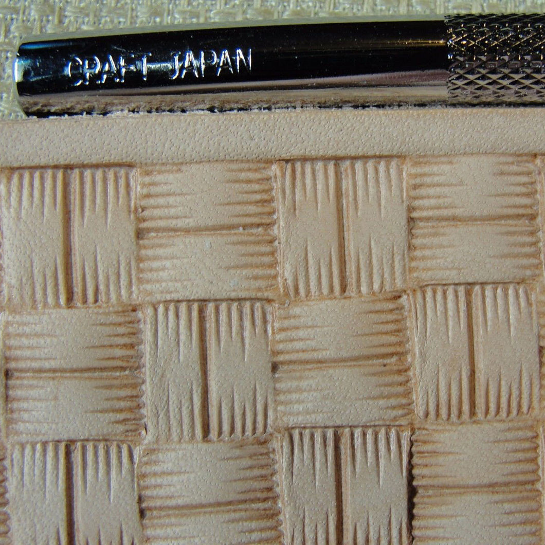 #X507 Square Basket Weave Stamp Japan Select Leather Stamping Tool