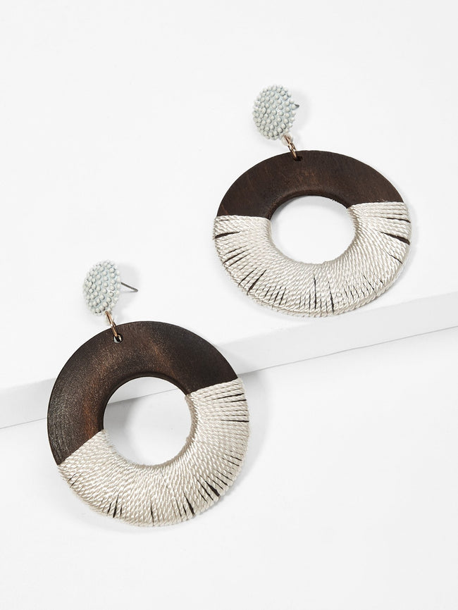 Two Toned Wooden Earrings