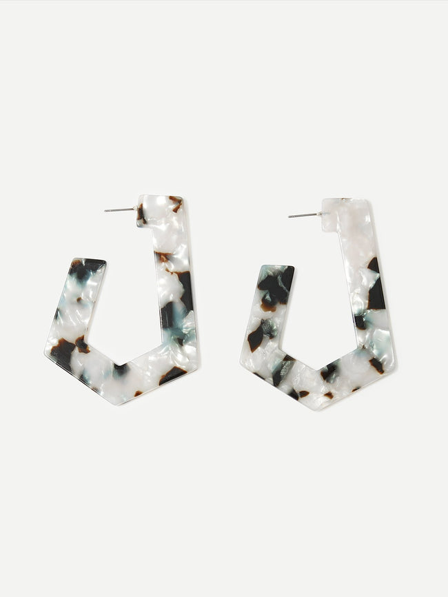 Karla Geometric Resin Drop Earrings