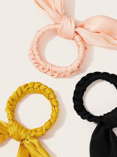 Gold, Pink and Black Bow Knot Scrunchies $5