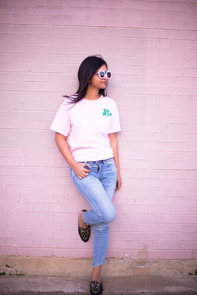 Monstera Embroidered Tee