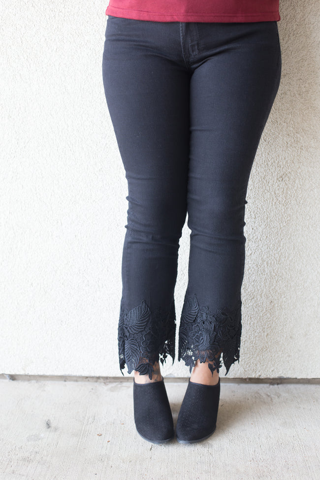 Rylee Black High Waisted Slim Straight Jeans