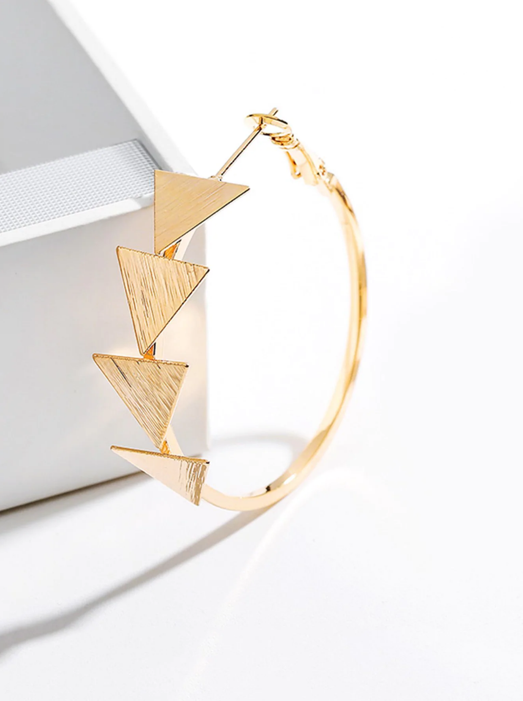 Triangle Detail Hoop Earrings