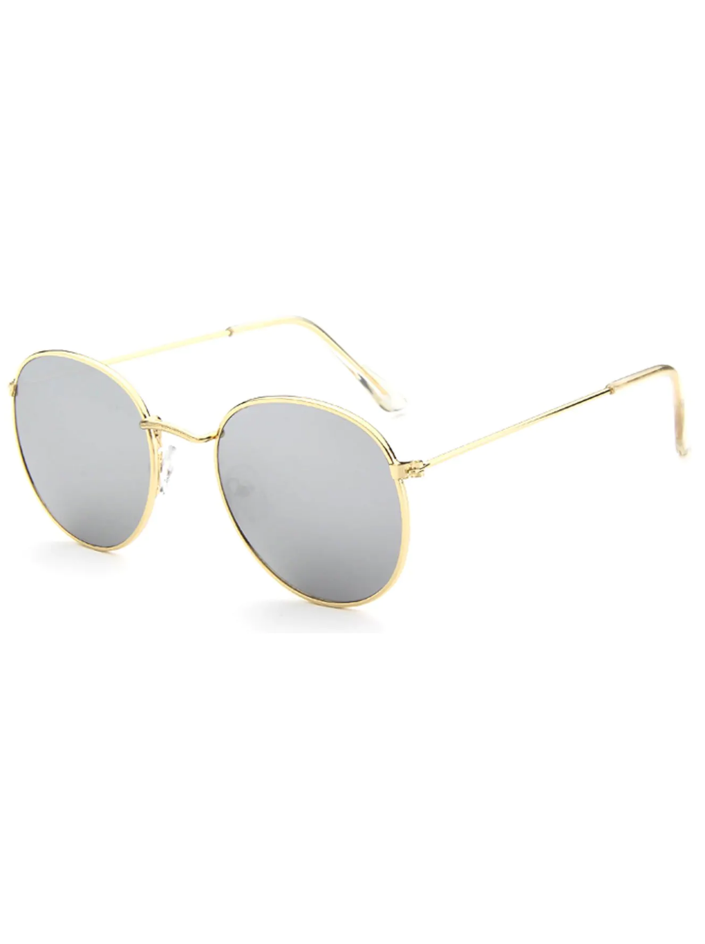 Metal Frame Mirror Lens Sunglasses