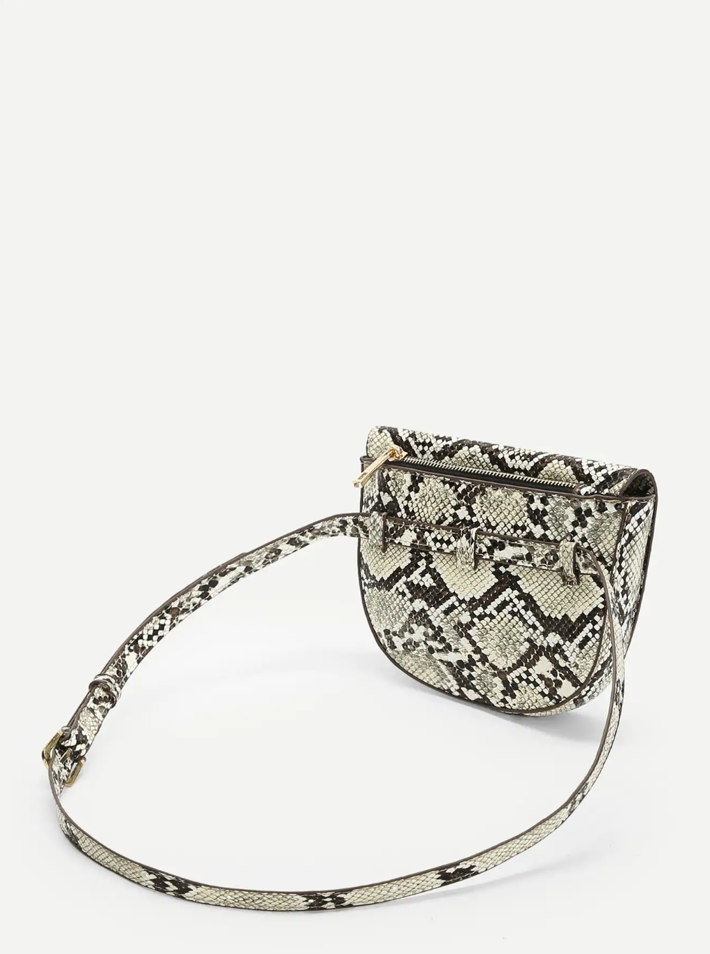Snakeskin Print Belt Bag