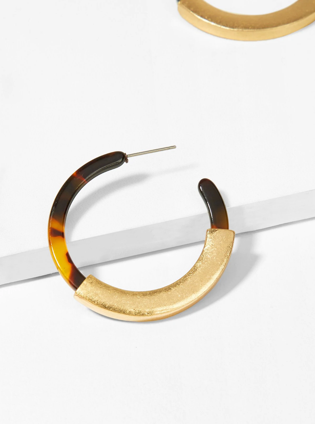 Leopard and Gold Open Hoop Earrings