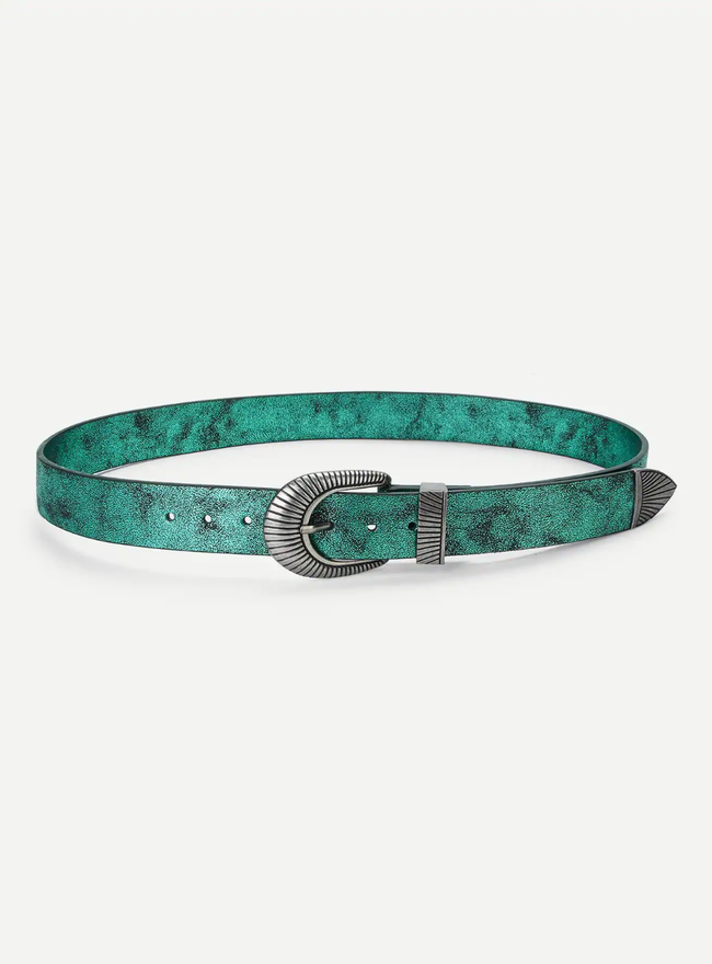 The Metallic Turquoise Belt