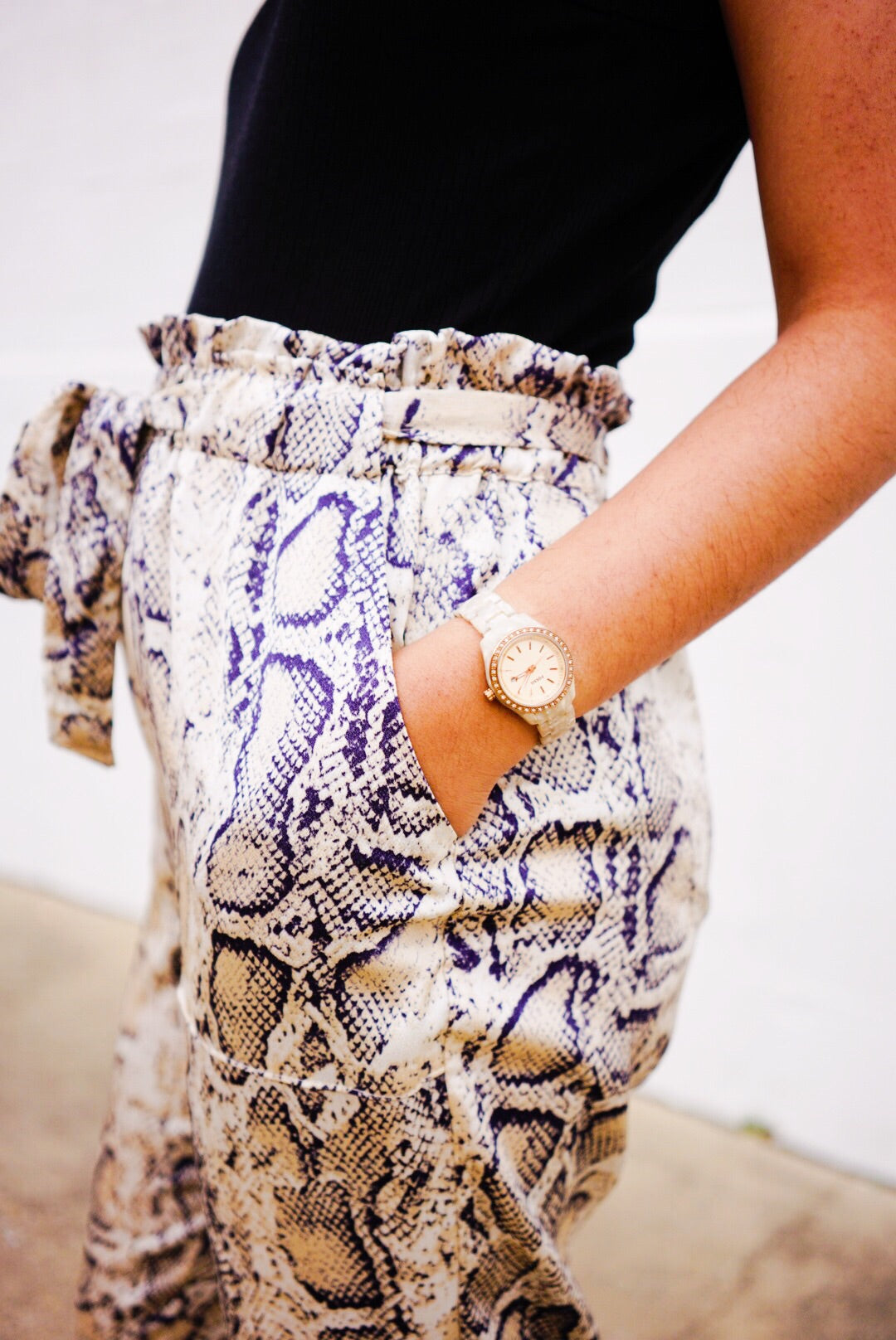 Sloan Snake Skin High Waisted Pants