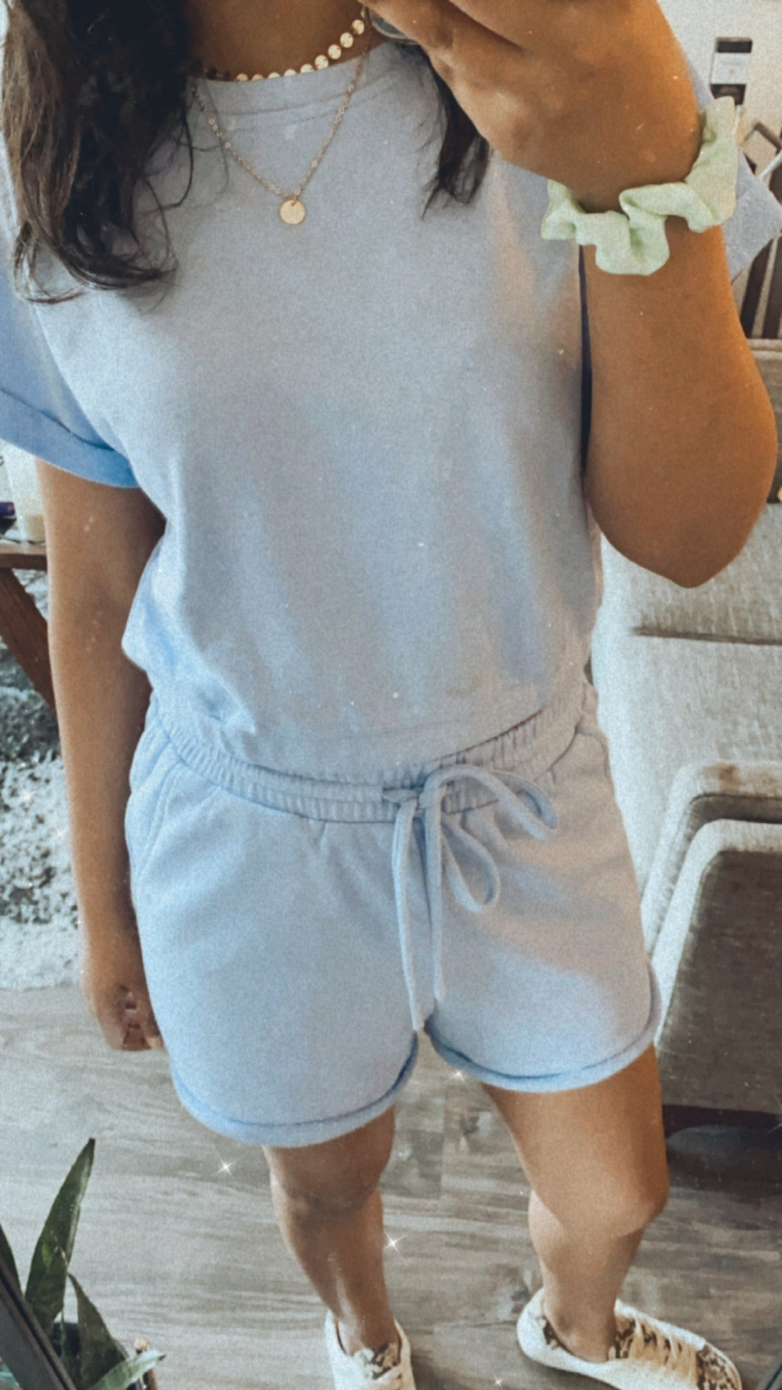 Drawstring Elastic Shorts